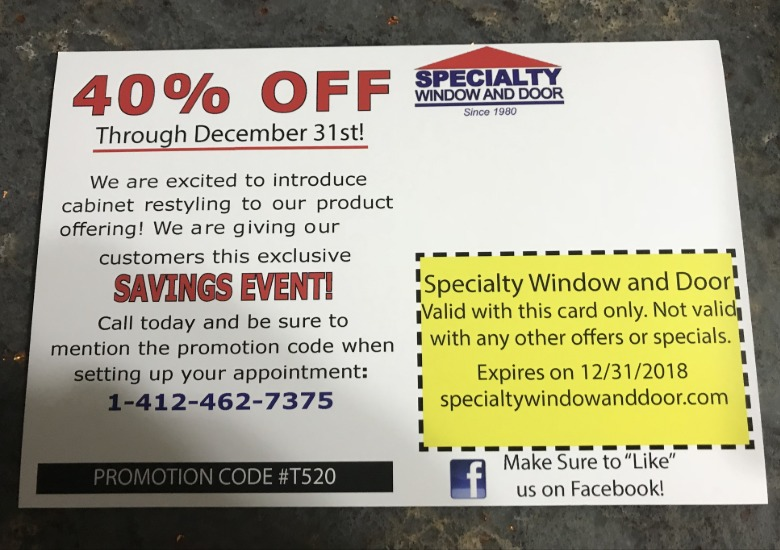 Specialty Window and Door Savings